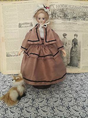 Elegant dress, for  French fashion  doll 12""