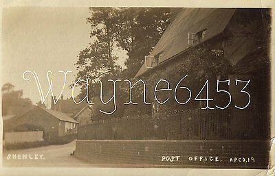 Shenley Post Office.   RPPC.
