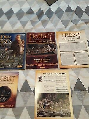 The hobbit & lord of the rings warhammer rulebook bundle