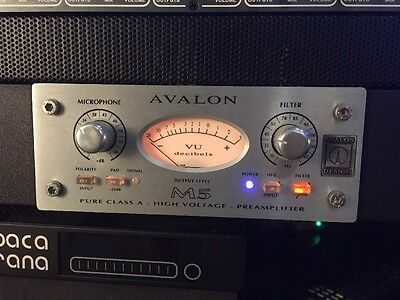 Avalon M5 Microphone Preamp with RM1 Rack Kit