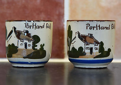 Torquay Motto Ware Pair Egg Cups Portland Bill - second set