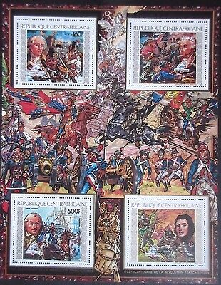 Central African Republic 1989 Bicentenary of French Revolution Mini Sheet. MNH