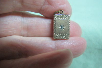 Victorian Ornate Book Locket with Small Diamond