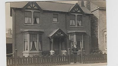 Family Home  believed to be in HUCKNALL TORKARD Real Photo Postcard Address only