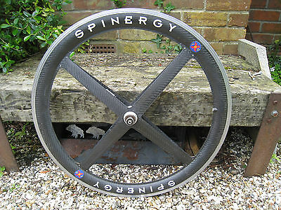 """Retro 26"""" Spinergy Carbon wheels (front and rear pair)"""