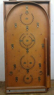 Vintage wooden pin ball bagatelle board traditional game man cave old