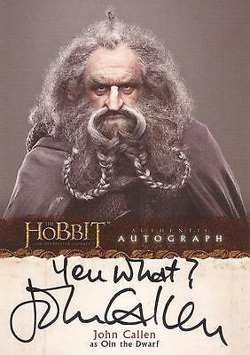 "The Hobbit Unexpected Journey - A9 John Callen ""Oin - You What?"" Autograph Card"