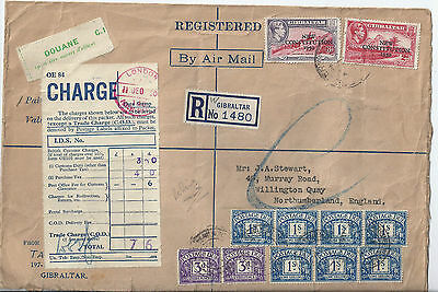 Gibraltar KGVI Postage Due GB Cover
