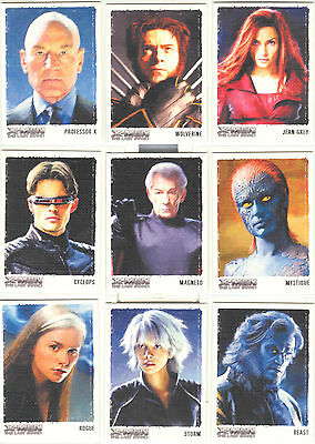 """X-Men The Last Stand - """"Art & Images Of X-Men"""" Set of 9 Chase Cards #ART1-9"""