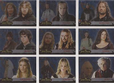 "Lord of the Rings Evolution - ""Evolution B"" Set of 12 Chase Cards 1-12B"
