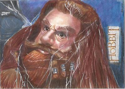 "The Hobbit An Unexpected Journey - Marcia Dye ""Gloin in a Web"" Sketch Card"