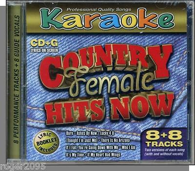 Karaoke CD+G - Country Female Hits Now -- New 8 Song CD! It's My Time, Burn