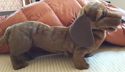 Folkmanis 2878 Dachshund LARGE puppet stuffed animal EUC 22 inches with tail