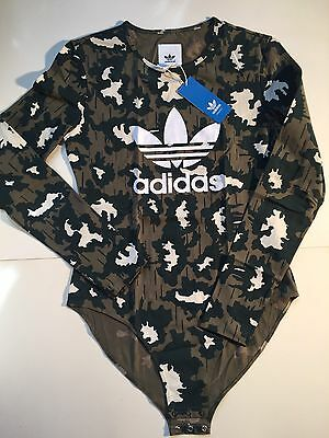 Adidas Women's Camouflage M64478 Bodysuit- Brand New With Tags - Free UK Postage