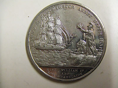 King William IV and Queen Adelaide Coronation Commemorative Medal 1831 VGC