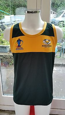 "Australia Rugby League World Cup Singlet/Vest. ""ISC""  £29.99 Size X Large"