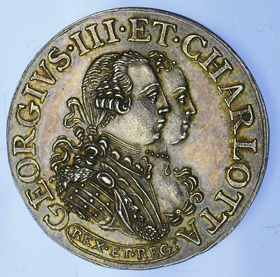 George III - 1761 Marriage to Queen Charlotte silver medal