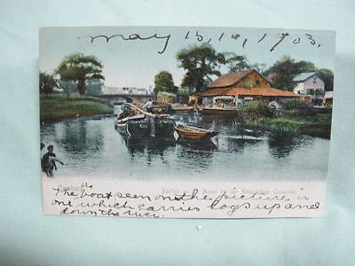 Vintage Post Card   1903 Hamburg Germany