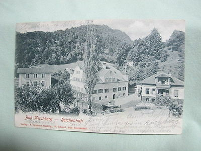Vintage Post Card  1903 Bad Kirchberg  Germany