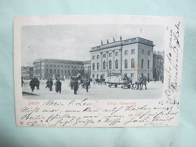 Vintage Post Card  1903 Berlin Konigl Universitat Germany