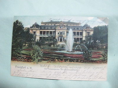 Vintage Post Card  1903 Frankfurt Germany