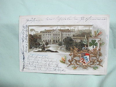 Vintage Post Card  1903 Furth Germany Muti View