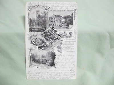 Vintage Post Card  1903 Gruss Nurnberg Germany Multi View