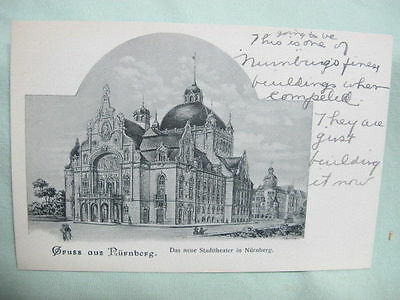 Vintage Post Card  Gruss Aus Nurnberg  Germany