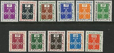 MAURITANIA Sc#O1-O11 1961 Official Stamps Complete Set Mint NH