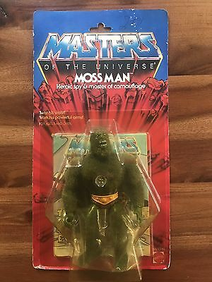 Motu Masters of the Universe Moss Man 1984 Moc  Ovp Carded Mint