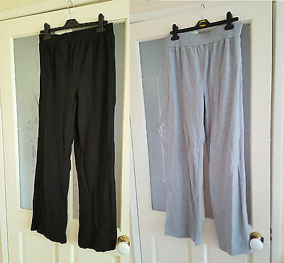 2 pairs of size 8 South maternity sweatpants 1 in grey 1 in black
