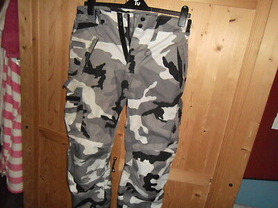 Small Rayven Urban Camo Pants Armoured Motorcycle Motorbike Trousers
