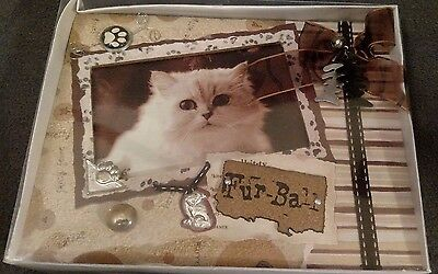 Kitty cat picture frame- Furr-Ball
