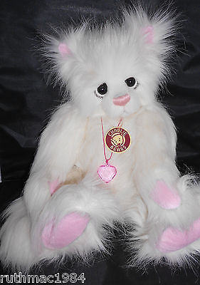 Charlie Bears PRINCESS the White Plush Cat ~ 2009 by Kelsey Cunningham ~ RETIRED