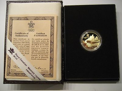 1987 Canadian Calgary Olympic Gold Proof (Item # 22)