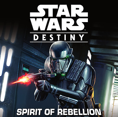 Star Wars Destiny Spirit Of Rebellion Rare Cards + Dice