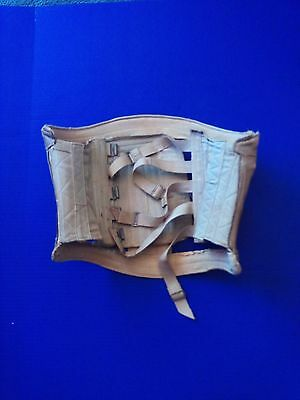 Early Medical Back Brace/Corset  With Metal Clasps & Leather Trim Steampunk