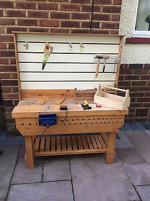 Children Bespoke Solid Wood Work Bench and Tools