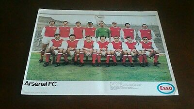 VINTAGE ESSO FOOTBALL TEAM POSTER ARSENAL FC 1960s