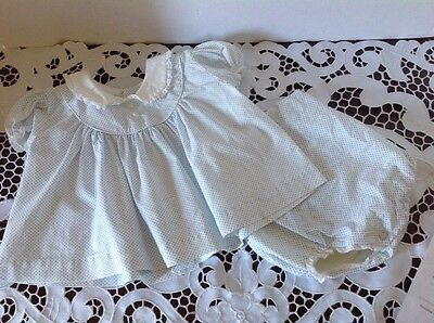 CI Castro & Co Baby Dotted Cotton Dress and Panties 6 to 12 Months Adorable