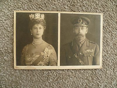 King & Queen  Ww1 Postcard To Troops (Wounded Version): Princess Mary Tin