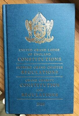 Masonic Book of Constitutions United Grand Lodge of England 1989