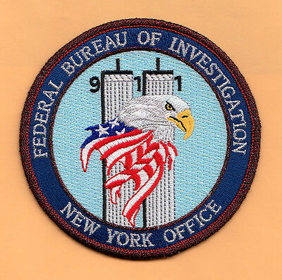 L19 * Gman Fbi New York Office Post 911 Memorial Atf Bp Federal Police Patch Hrt