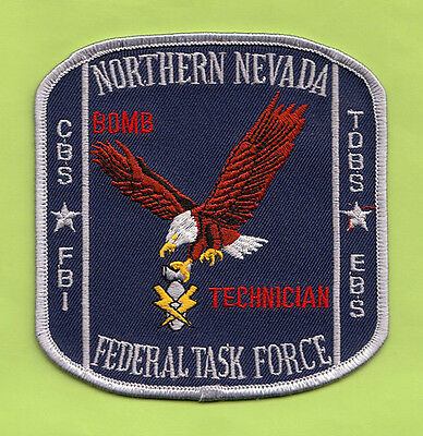 L27 * 2008 Gman Fbi Northern Nevada Federal Task Force Bomb Tech Police Patch
