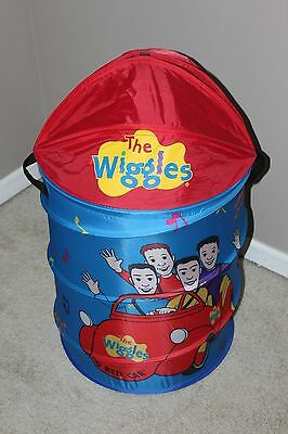 "2002 The Wiggles Pop Up Laundry Hamper- Great Quality- Rare! Large 32""x19"""