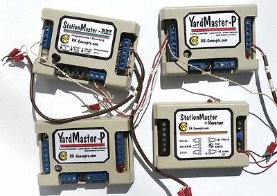 4 used RR Concepts  devices - Yardmaster, Station Master, etc