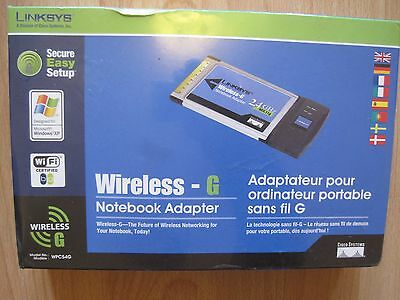 Laptop Wireless Card Linksys WPC54G Notebook Adapter Adaptor NEW BOXED SEALED