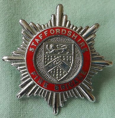 Old Staffordshire  Fire Brigade Cap Badge