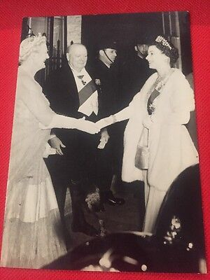 VInTAGE Real Photo Postcard - Royal Dinner at No.10 on Eve of PM retirement
