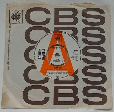 RARE PROMO FOLK POPSIKE 45 Gordon Haskell Boat Trip/ Time Only Knows CBS 1969